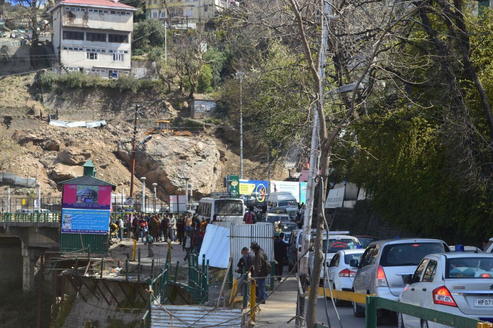 Traffic jam in Shimla