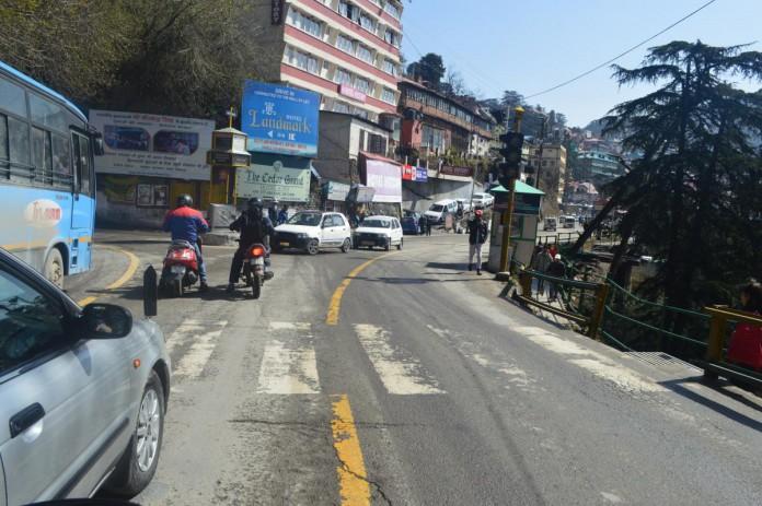 Shimla Traffic signal Lights