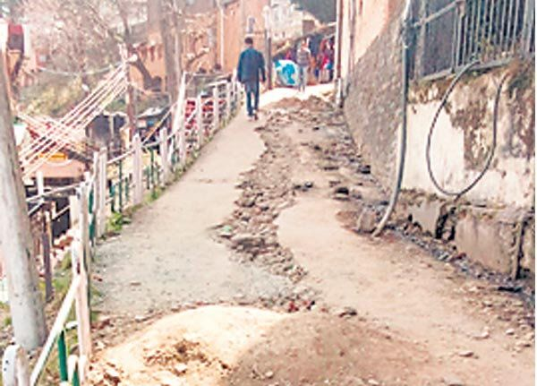 Sewage line Scandal point