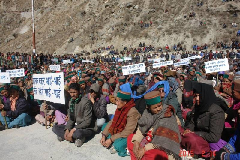 Karcham Wangtoo protest