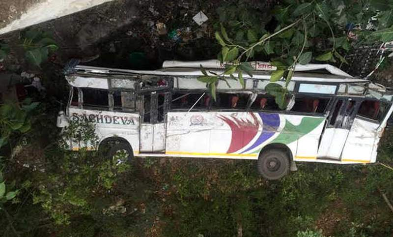 Bus Accident Dhalira Himachal