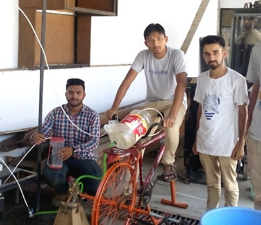 NIIt Hamirpur students build multipurpose cycle