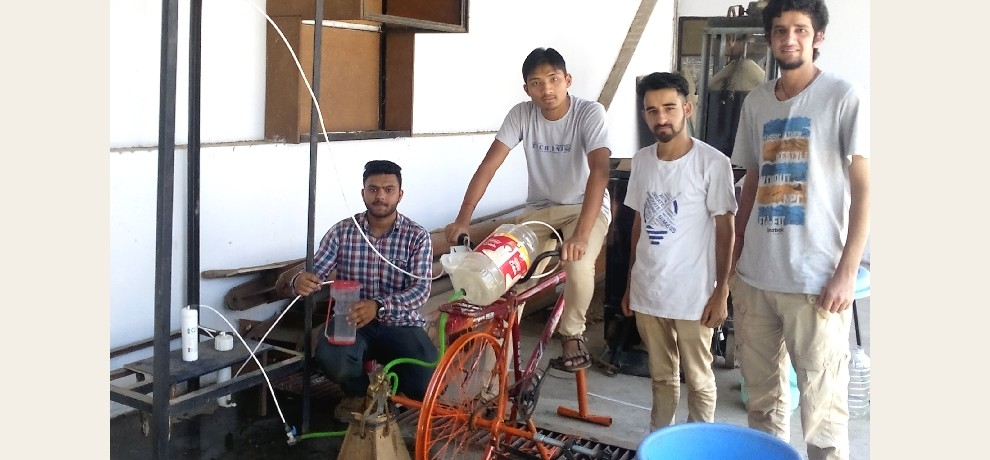 NIIt Hamirpur students build multipurpose cycle