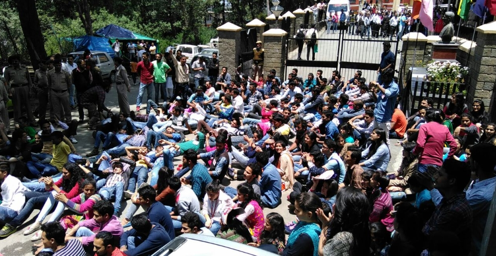 student protest at hp university