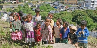 Charan Khad slum children