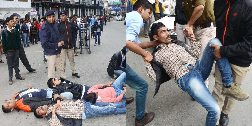 Blind Protest in Shimla city