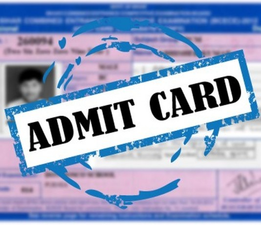 BAMS AND BSC Nursing Admit Card