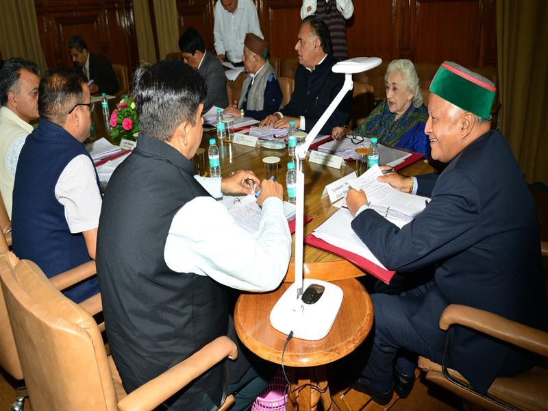 Himachal Cabinet Meeting 2016