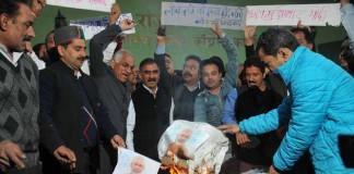 Himachal Congress Modi's Effigy Burnt