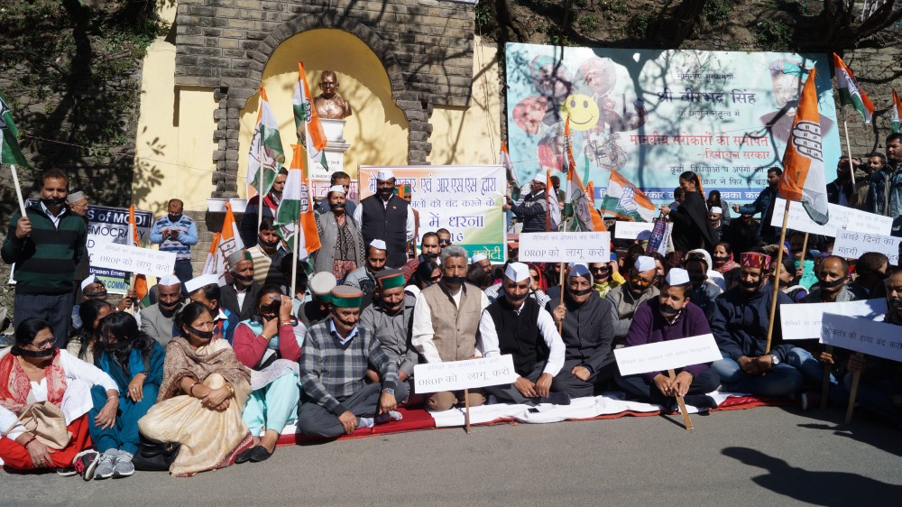 HimachaHimachal Congress Protest in Shimla Against Rahul gandhi Arrest 2l Congress Protest in Shimla Against Rahul gandhi Arrest 2