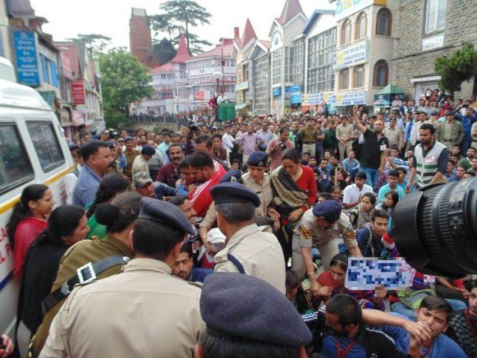 Protest Ban in Shimla