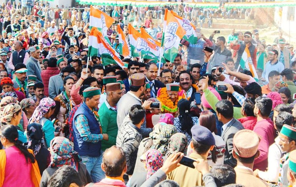 Virbhadra Rally in Rohruy