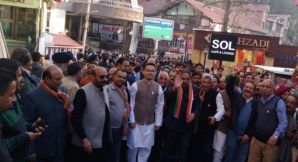 harbhajan bhajji on Shimla urban seat