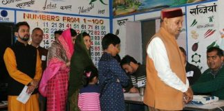 PK Dhumal cast vote