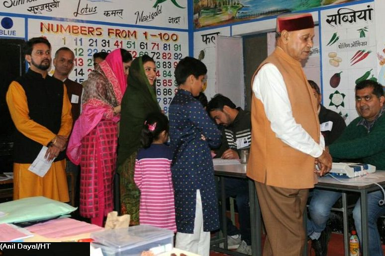 PK Dhumal cast vote
