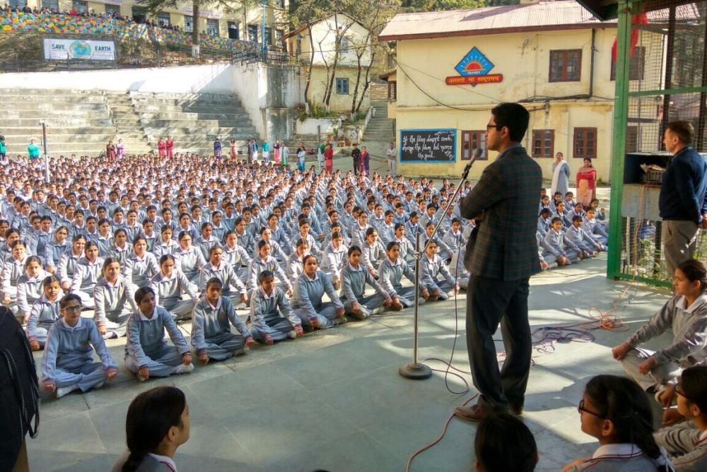 Shimla DC Rohan Chand Thakur at schools