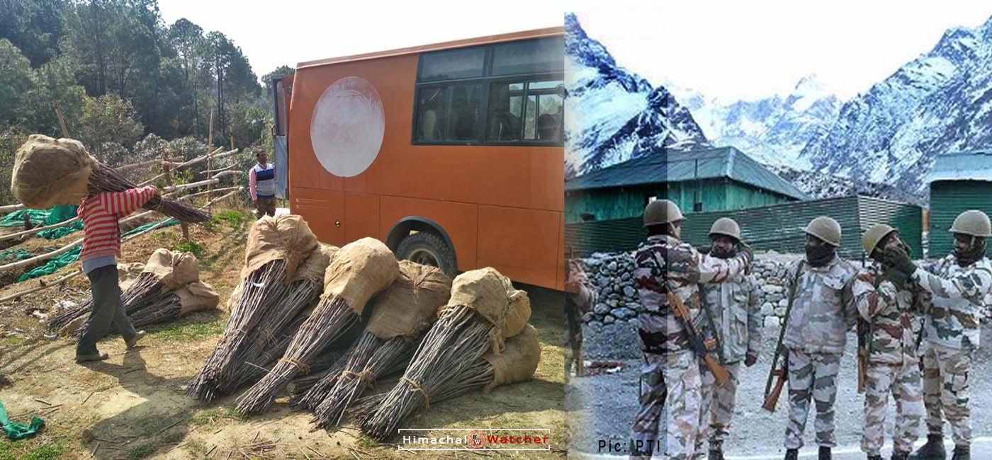 DRDO planting temperate fruit plants in leh-ladakh