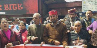 Parents protest against SDM Shimla