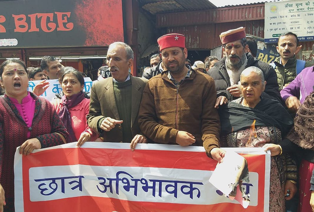 Parents protest against SDM Shimla