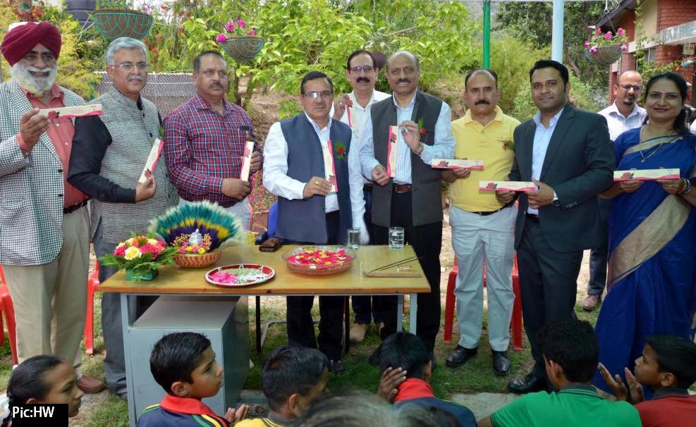 Dr HC Sharma, UHF VC launching the organic incense sticks