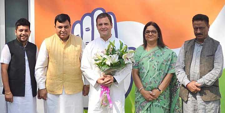 Hamirpur MP Rajesh Chandel Joins Congress