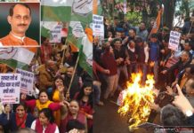 Protests erupt against Himachal BJP Chief satpal singh satti