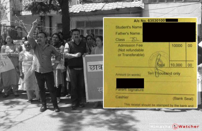 chelsea school shimla annual fee hike 2