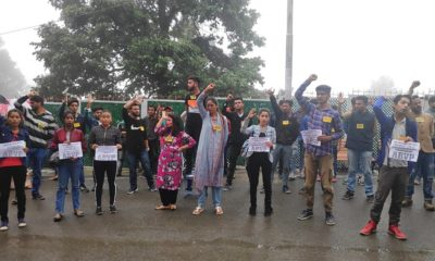 ABVP Protest at HPU over suspension of members 2