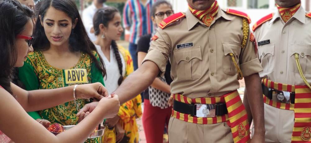 ABVP Celebrates Raksha Bandhan With SSB Shimla