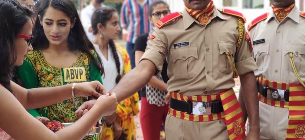 ABVP Celebrates Raksha Bandhan With SSB Shimla