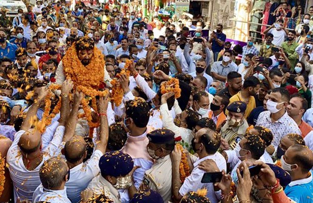 anurag thakur jan ashirvad yatra in himachal pradesh
